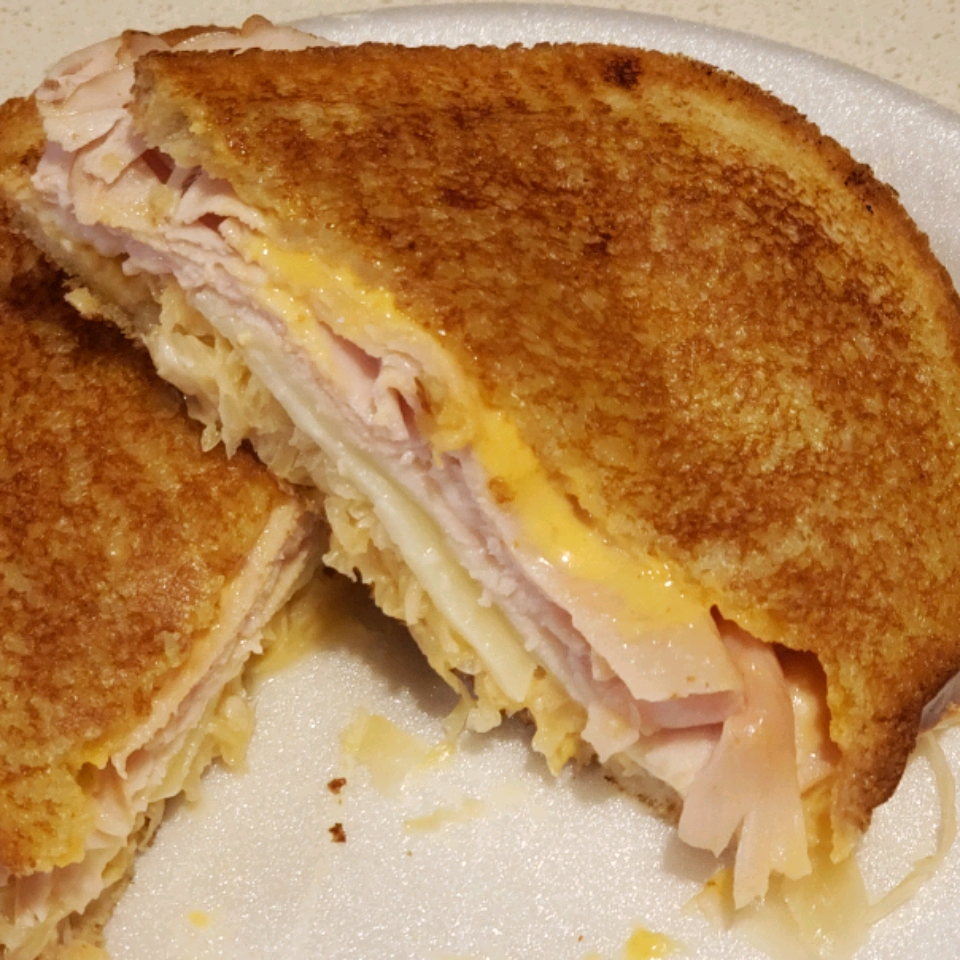 Grilled Turkey Reuben Sandwiches