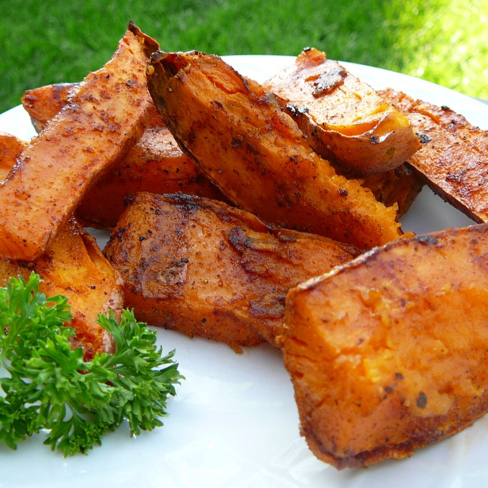 Grilled Chipotle Sweet Potatoes Molly