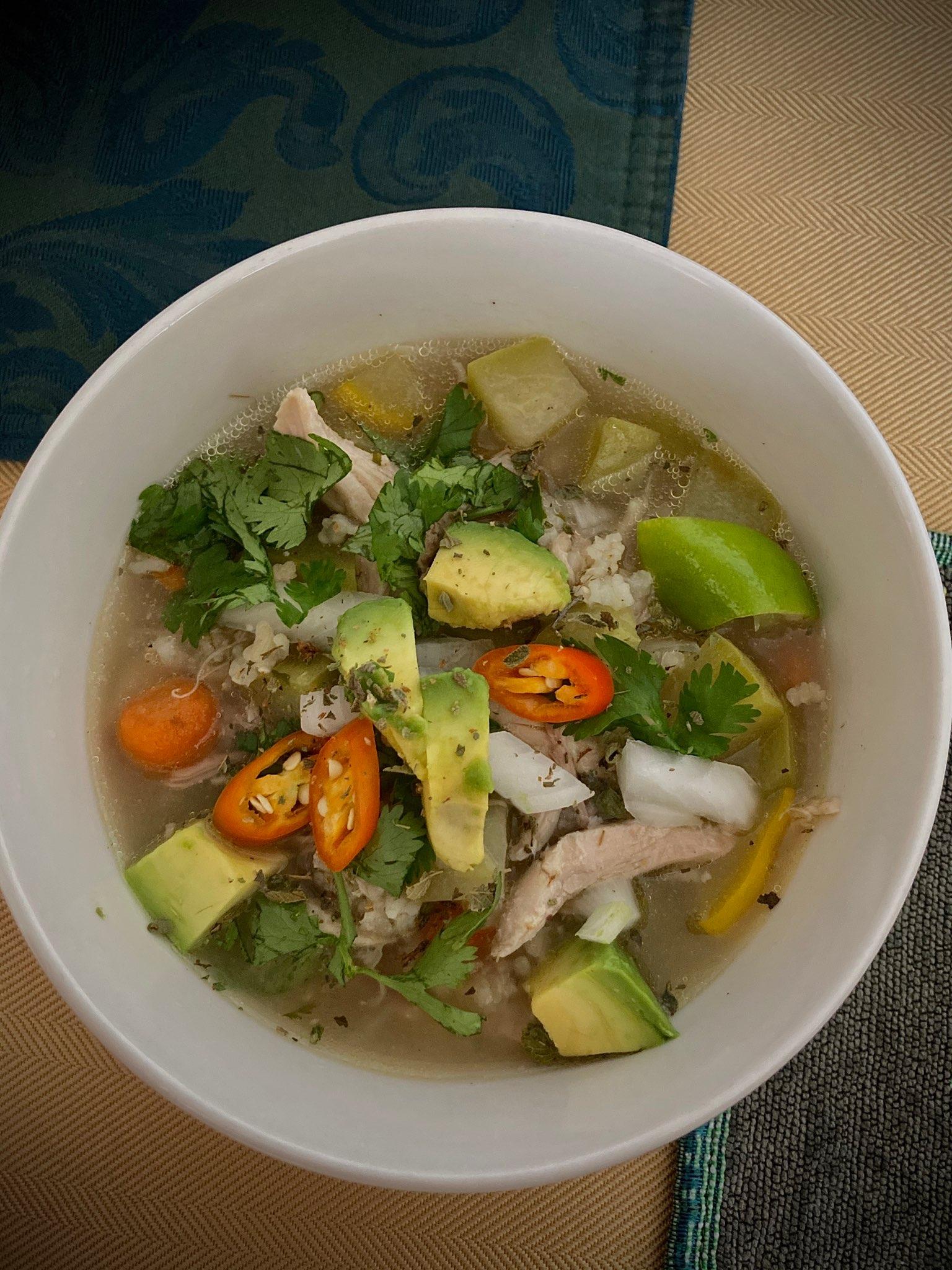 Mexican Chicken and Rice Soup (Sopa de Pollo y Arroz) Foodie