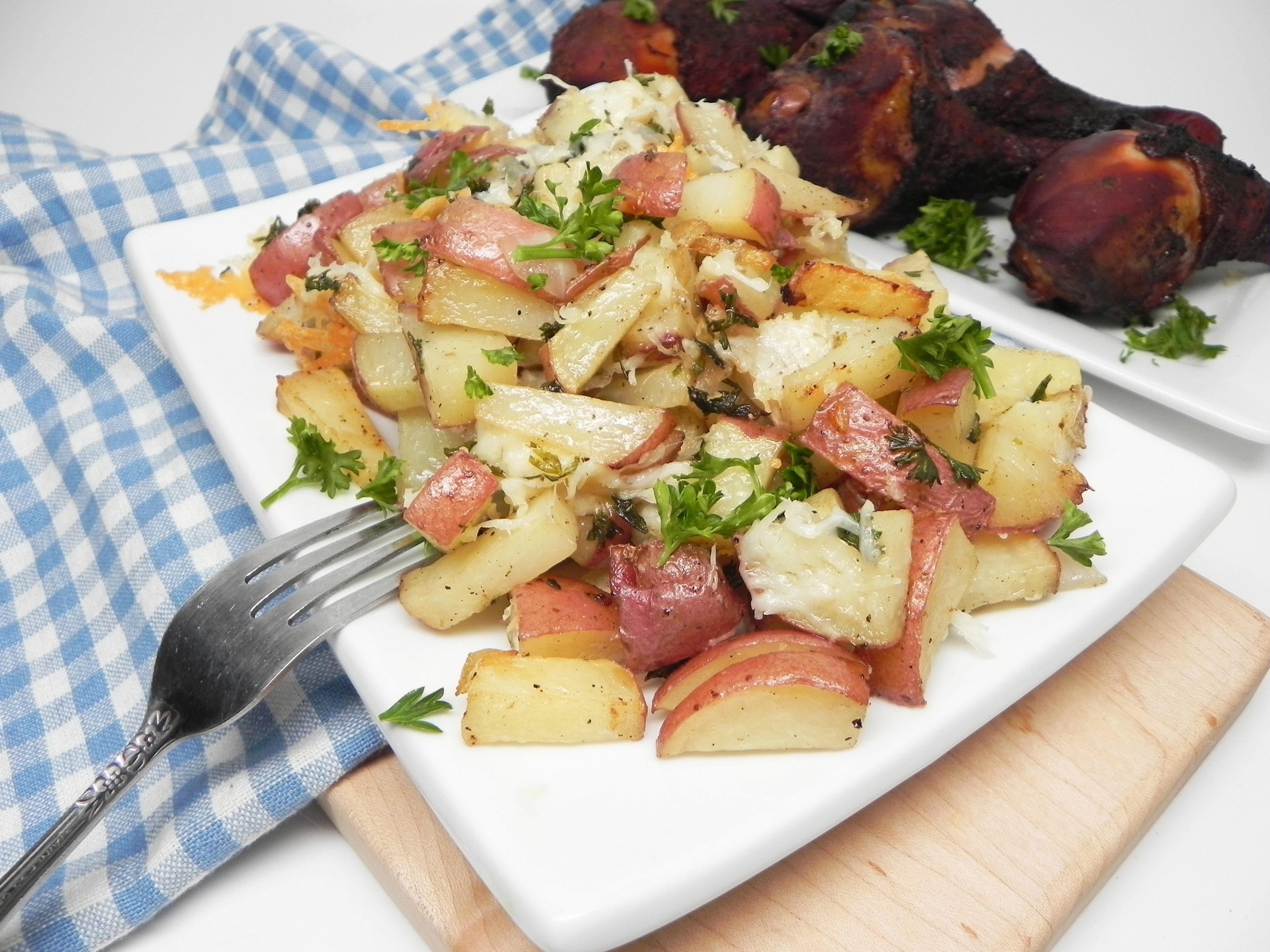 Roasted Red Potatoes with Truffle Oil and Parmesan