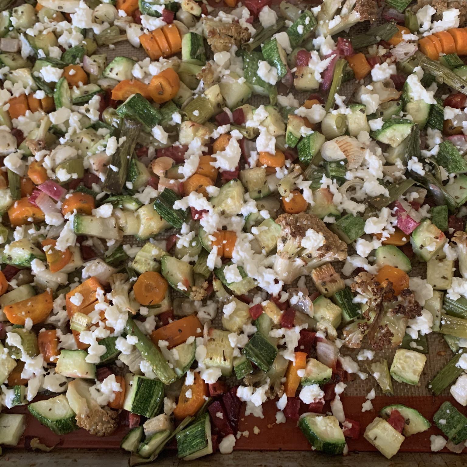 Sheet Pan Vegetable Dinner with Feta barbara