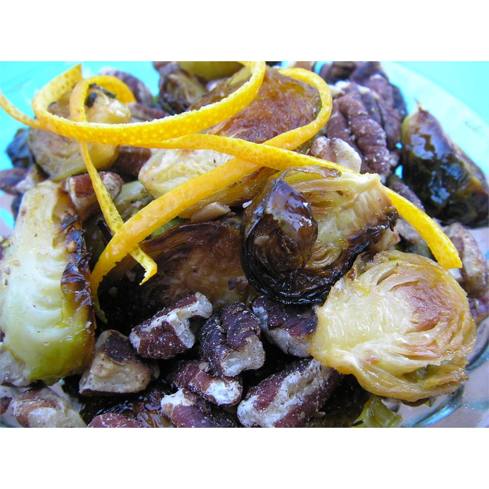Browned Brussels Sprouts with Orange and Walnuts mauigirl