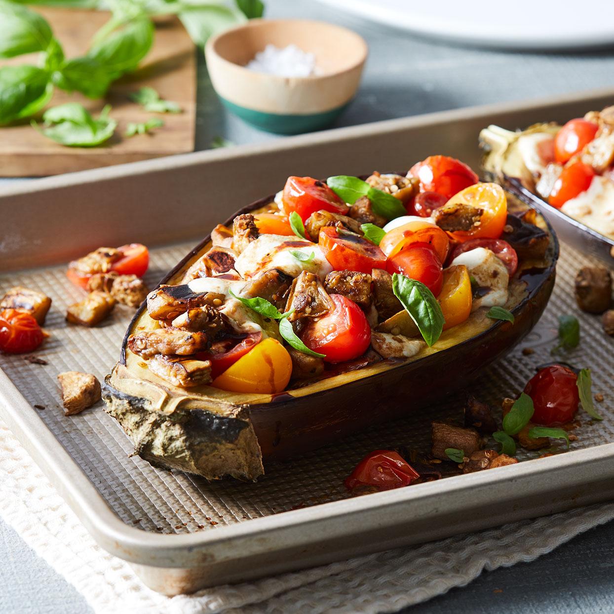 Caprese-Stuffed Eggplant