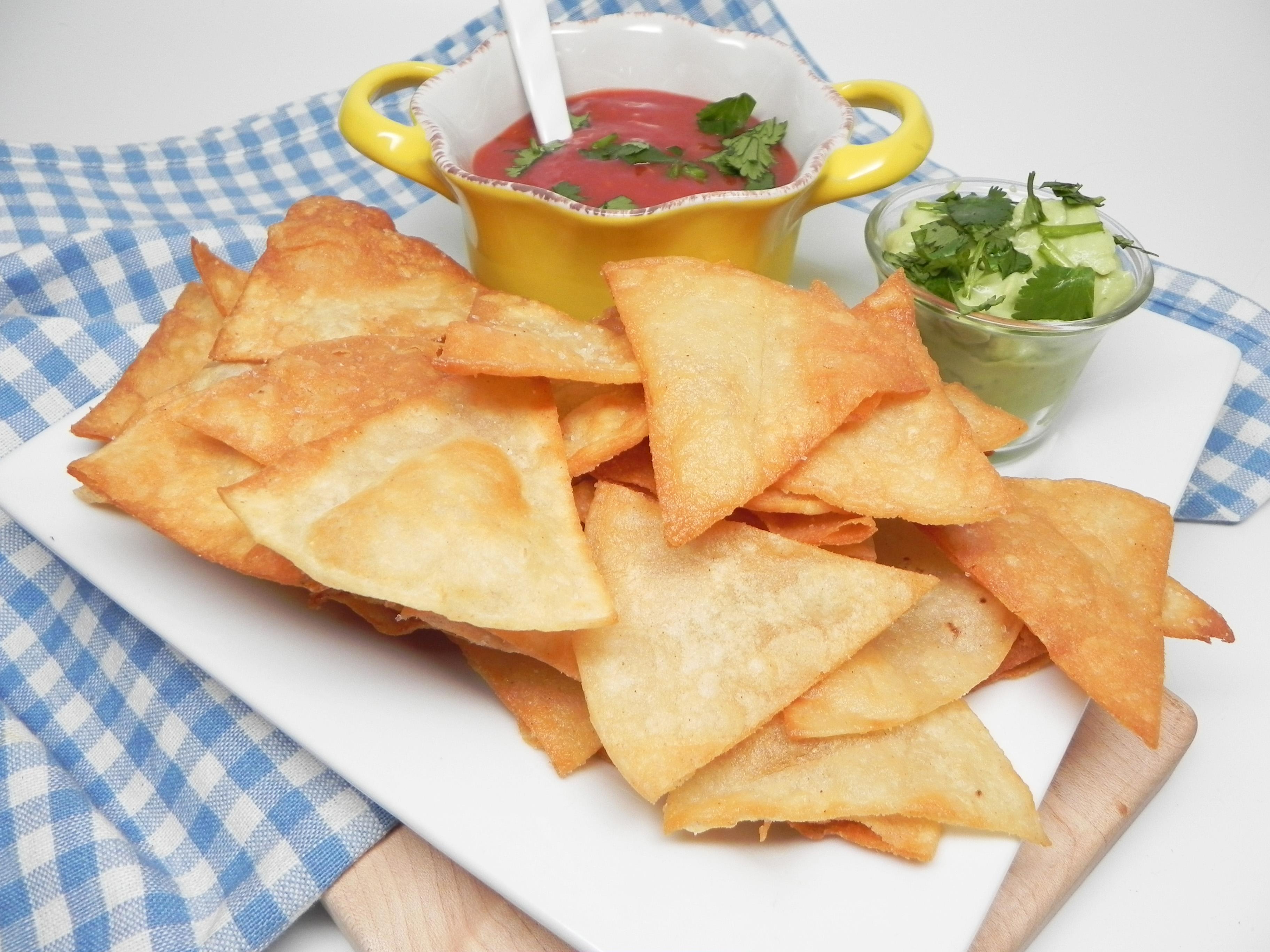 Homemade Deep-Fried Tortilla Chips