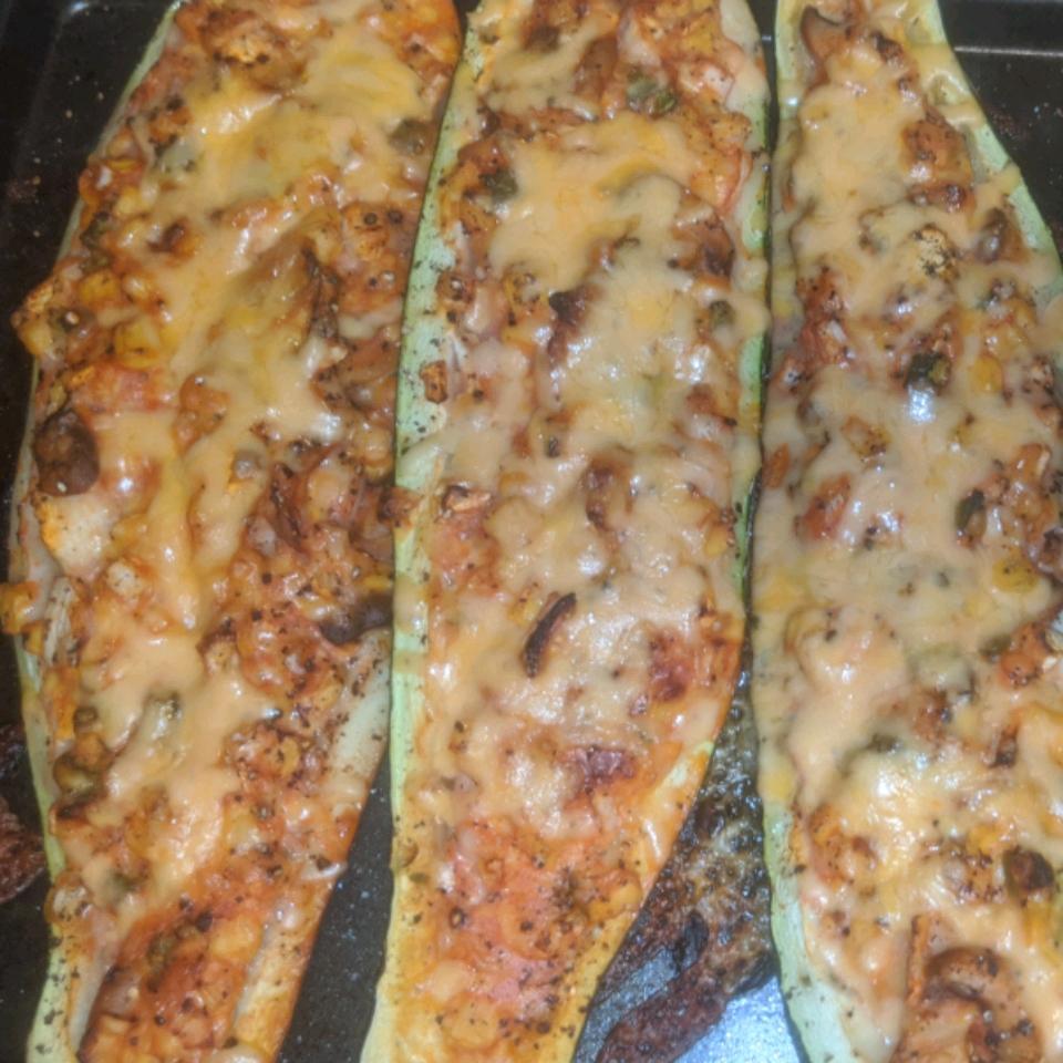 Corn-Stuffed Zucchini MPerry