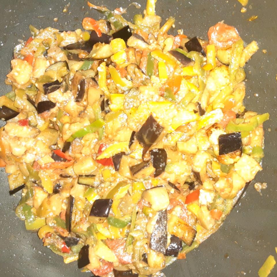 Eggplant Tomato Salad xdianax143