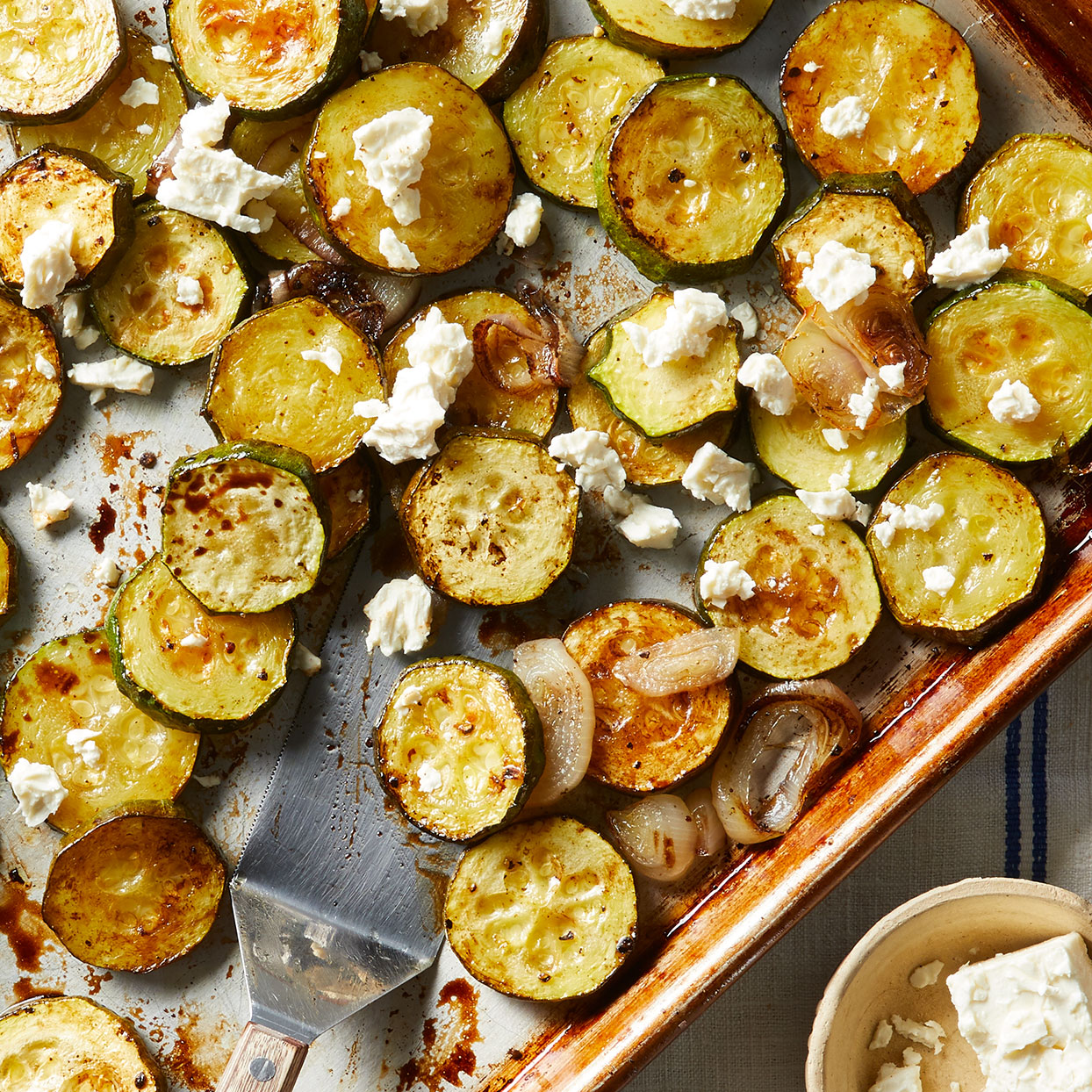 Balsamic Roasted Zucchini with Feta Allrecipes Trusted Brands