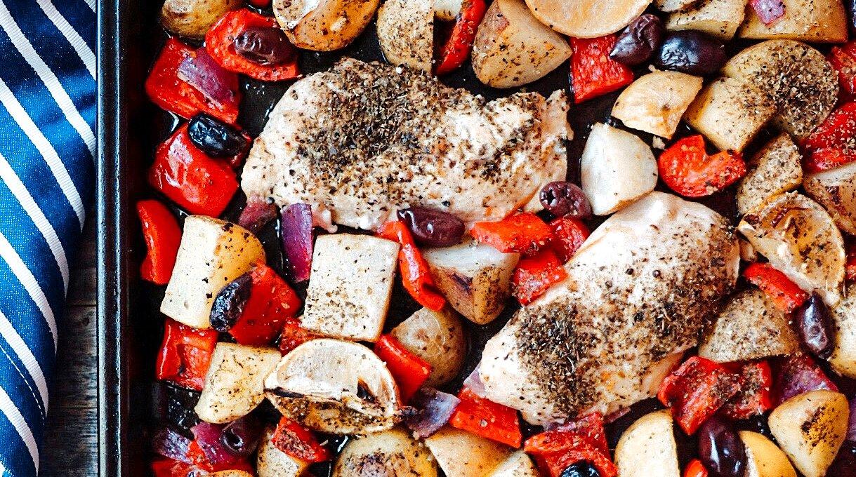 Easy Sheet Pan Greek Chicken