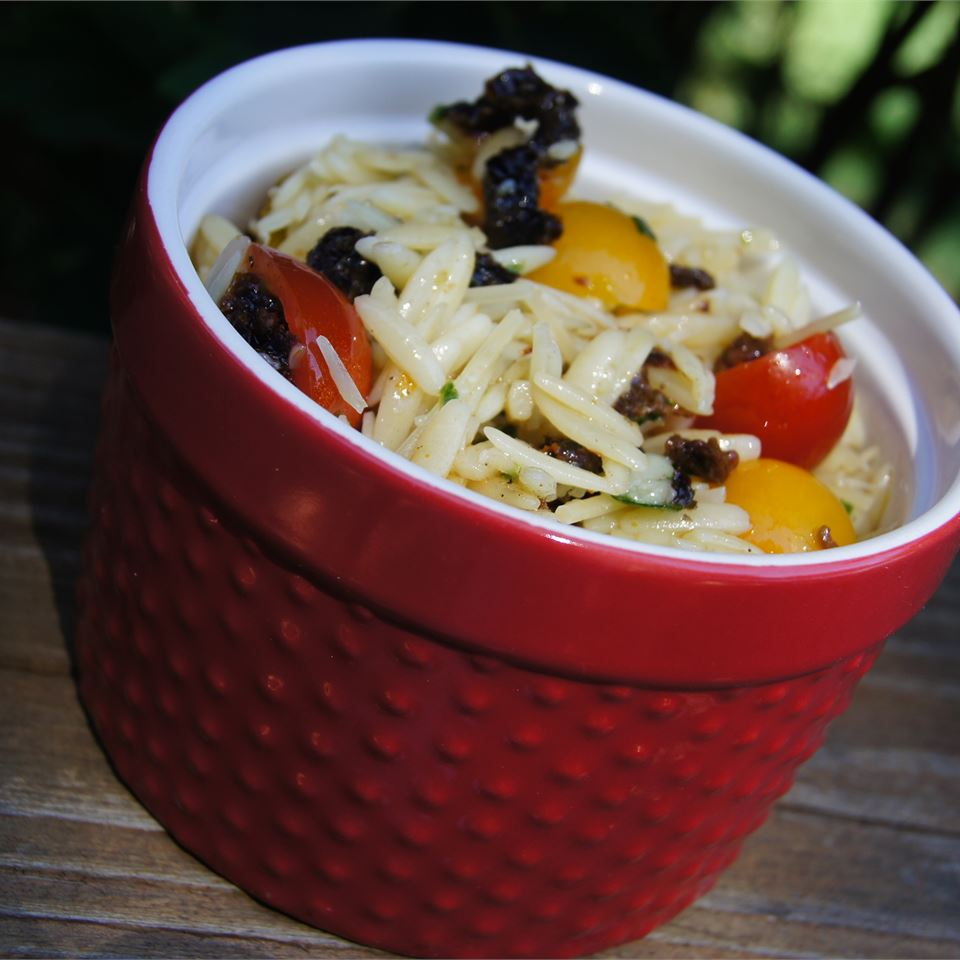 Sun-Dried Tomato Basil Orzo TheBritishBaker