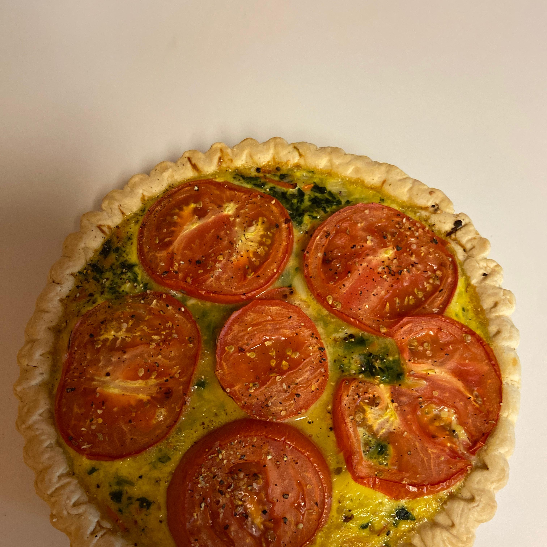 Spinach and Carrot Quiche jksun01