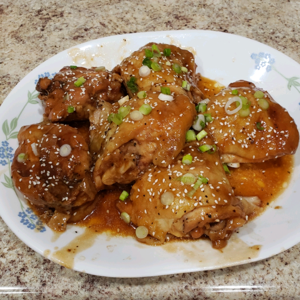 Instant Pot® Garlic-Sesame Chicken Thighs ginnyefaulkner