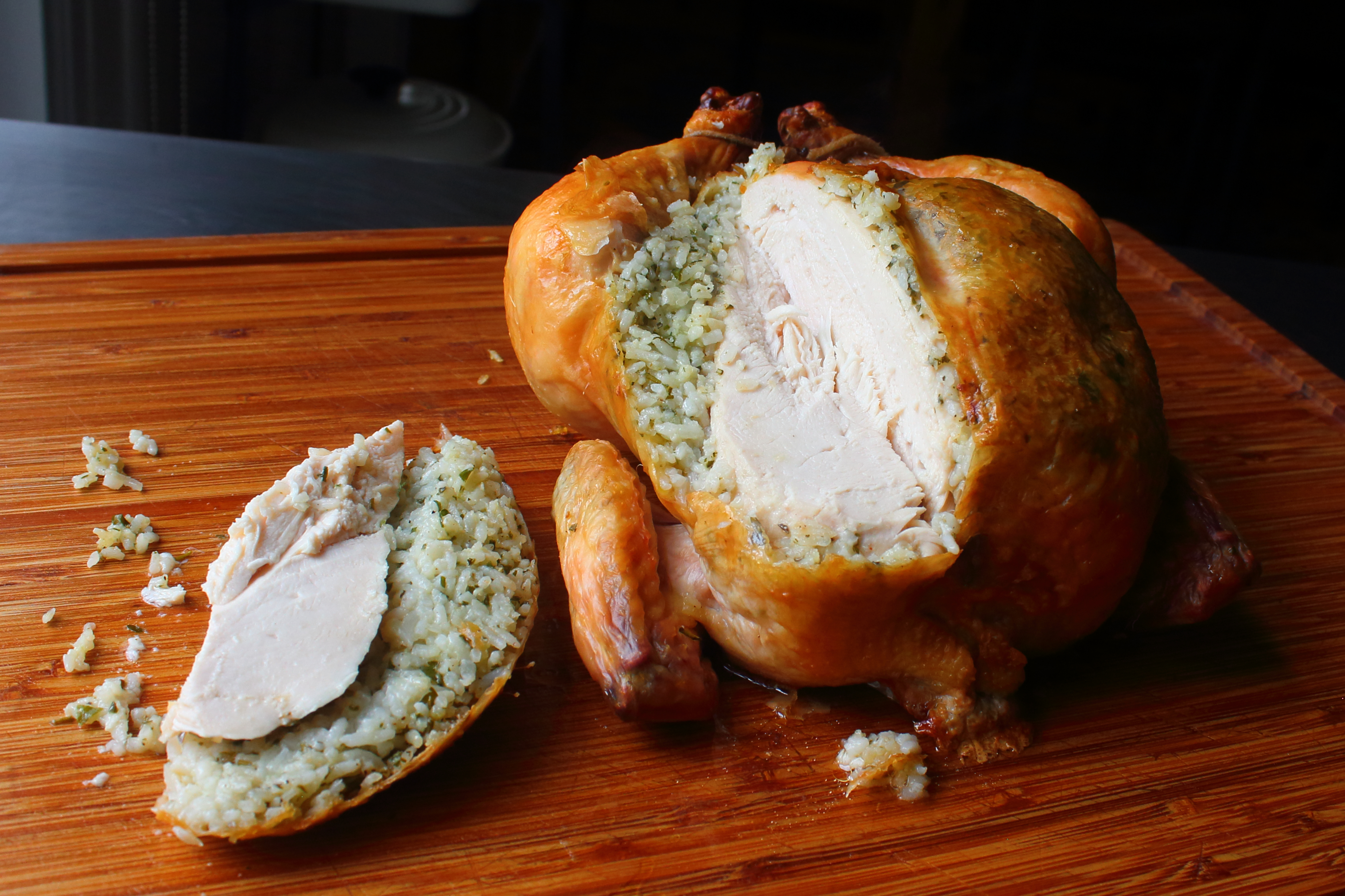 Garlic Rice Roast Chicken