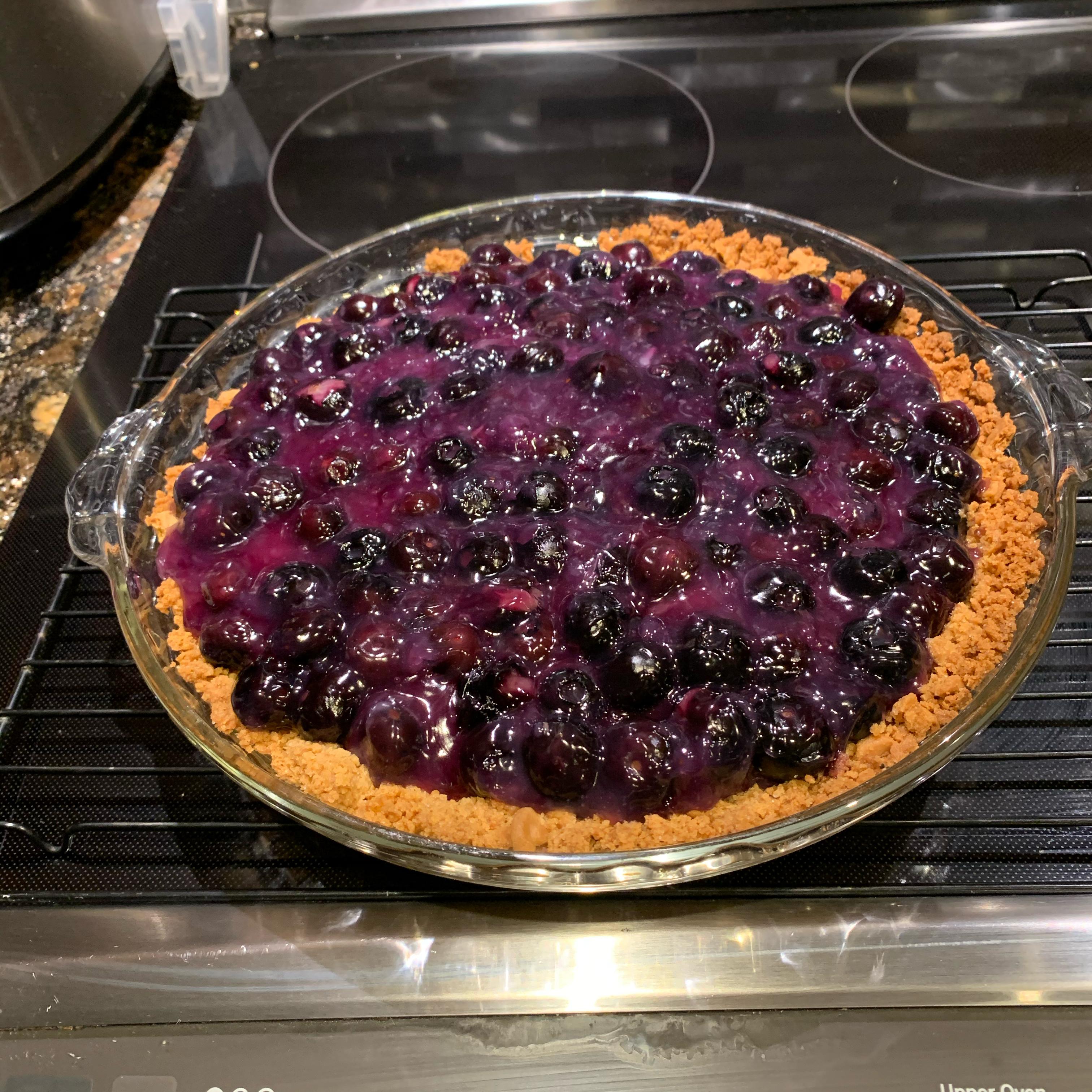 Blueberry Cheesecake Pie Elise