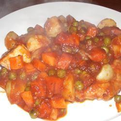 One Skillet Pork Supper Chicken