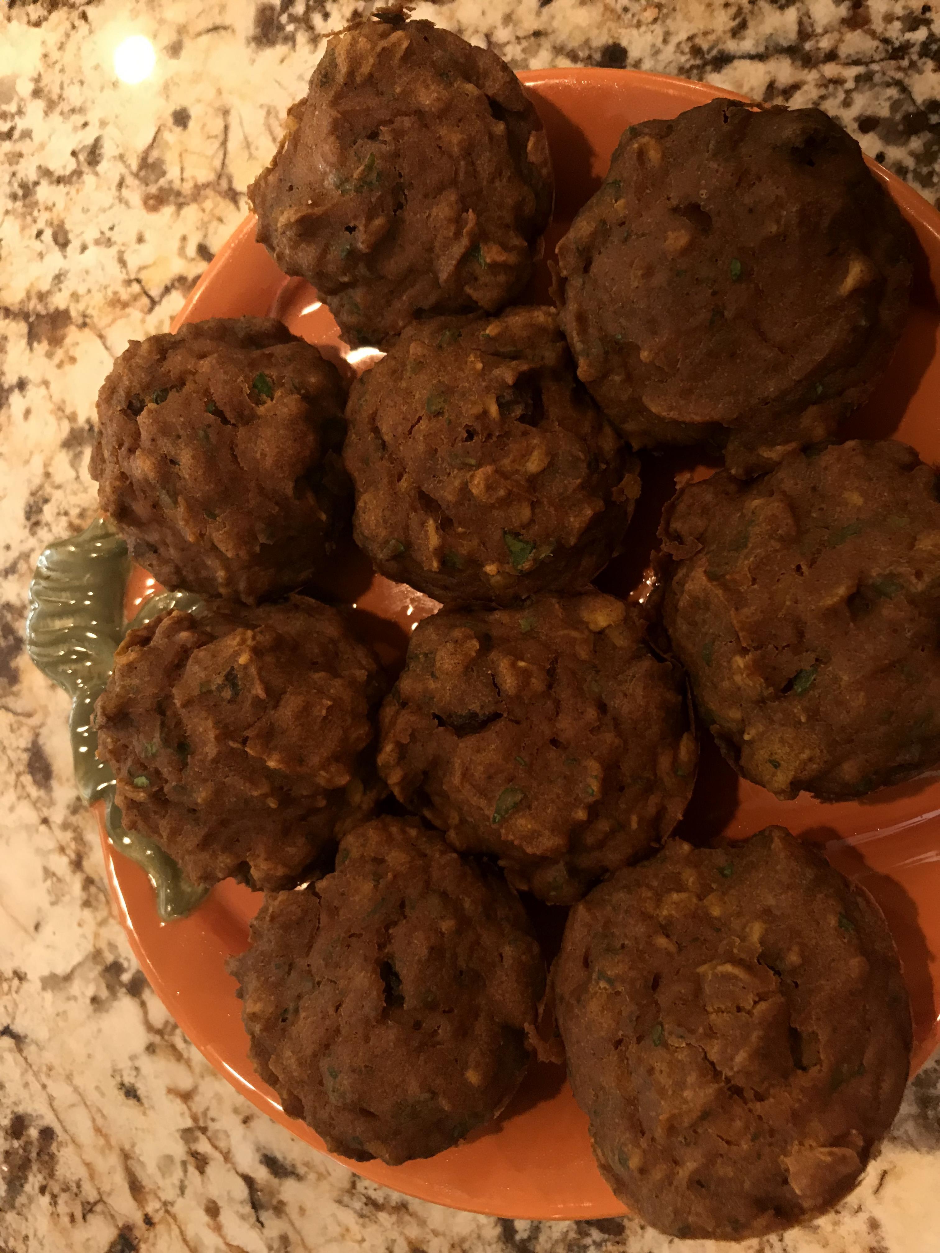 Pumpkin Spinach Toddler Muffins