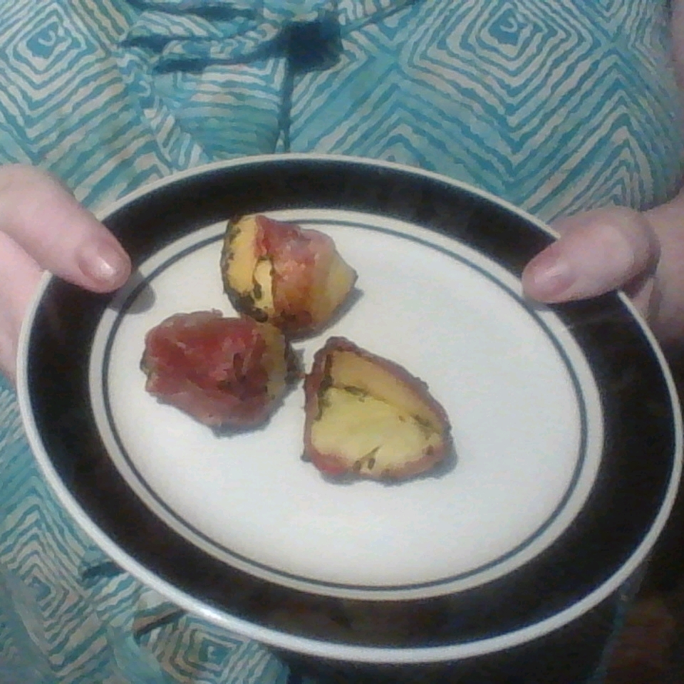 Grilled Prosciutto-Wrapped Peaches with Burrata and Basil Shannon Goodall