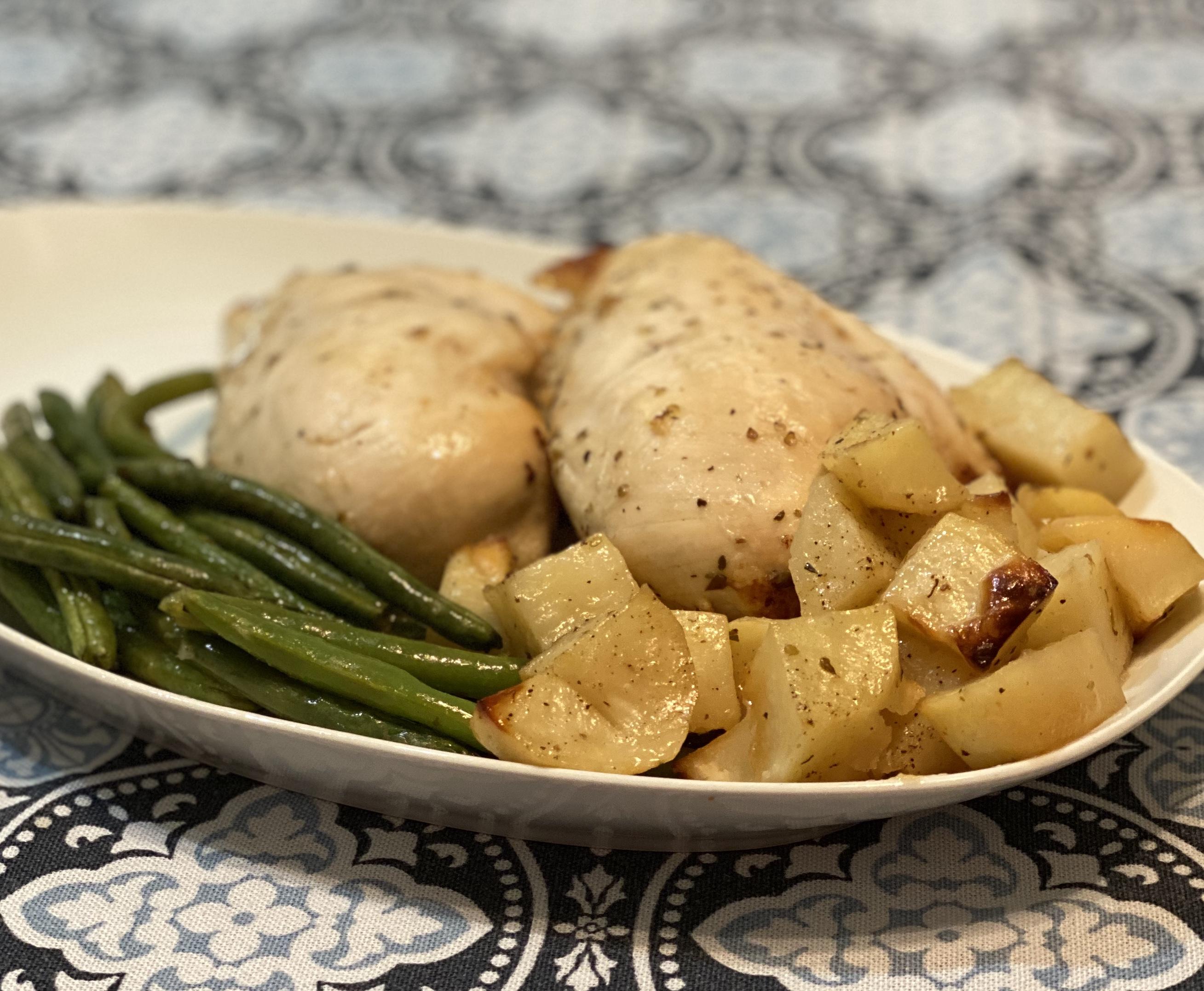 Sheet Pan Chicken Dinner for Two Happyschmoopies
