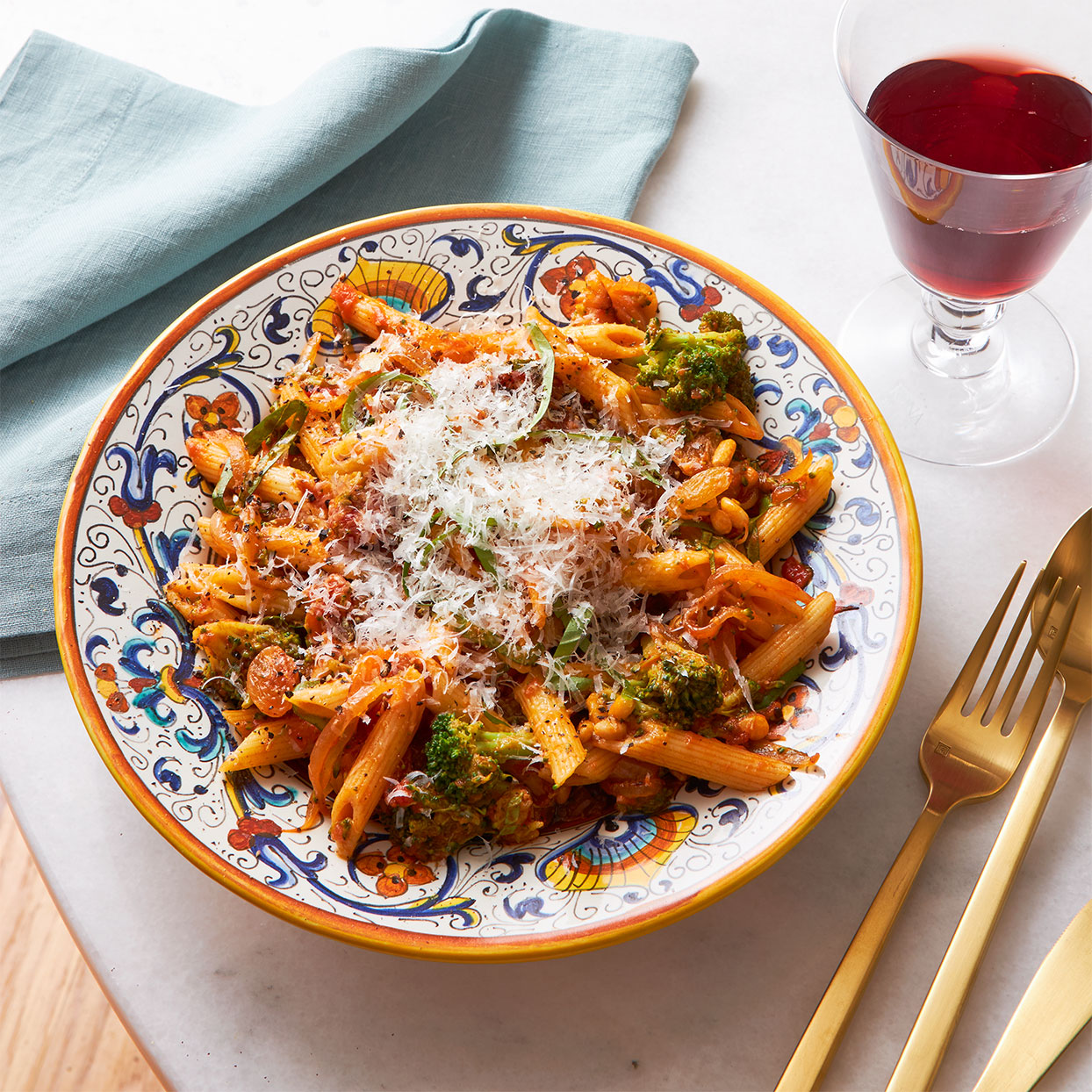 Pasta cui Vruccoli Ariminata (Lina's Pasta & Broccoli) Allrecipes Trusted Brands