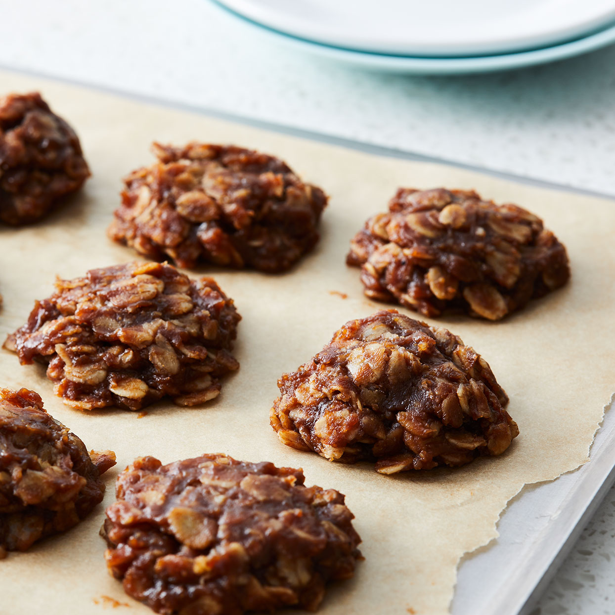 Creamy natural peanut butter and chocolate team up in these easy cookies--no baking required! Whip up a batch for after-school snacks, dessert or anytime your sweet tooth comes calling. Source: EatingWell.com, September 2020