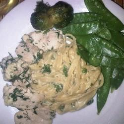 Lighter Chicken Fettuccine Alfredo