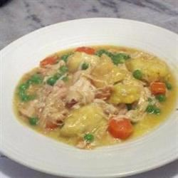 Healthier Slow Cooker Chicken and Dumplings Connie Tomas