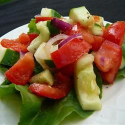 Tomato Cucumber Salad Sowmya