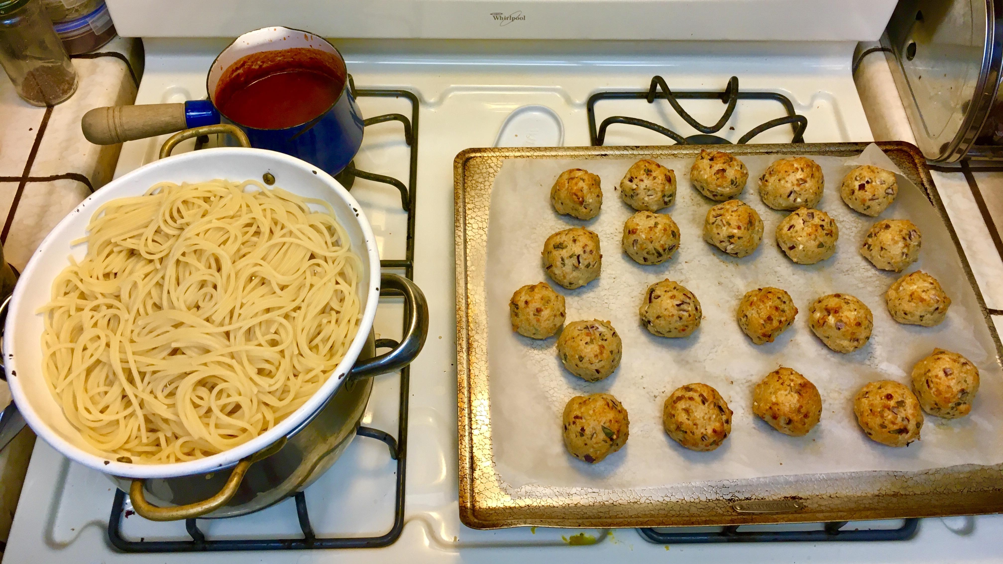 Feta and Olive Meatballs