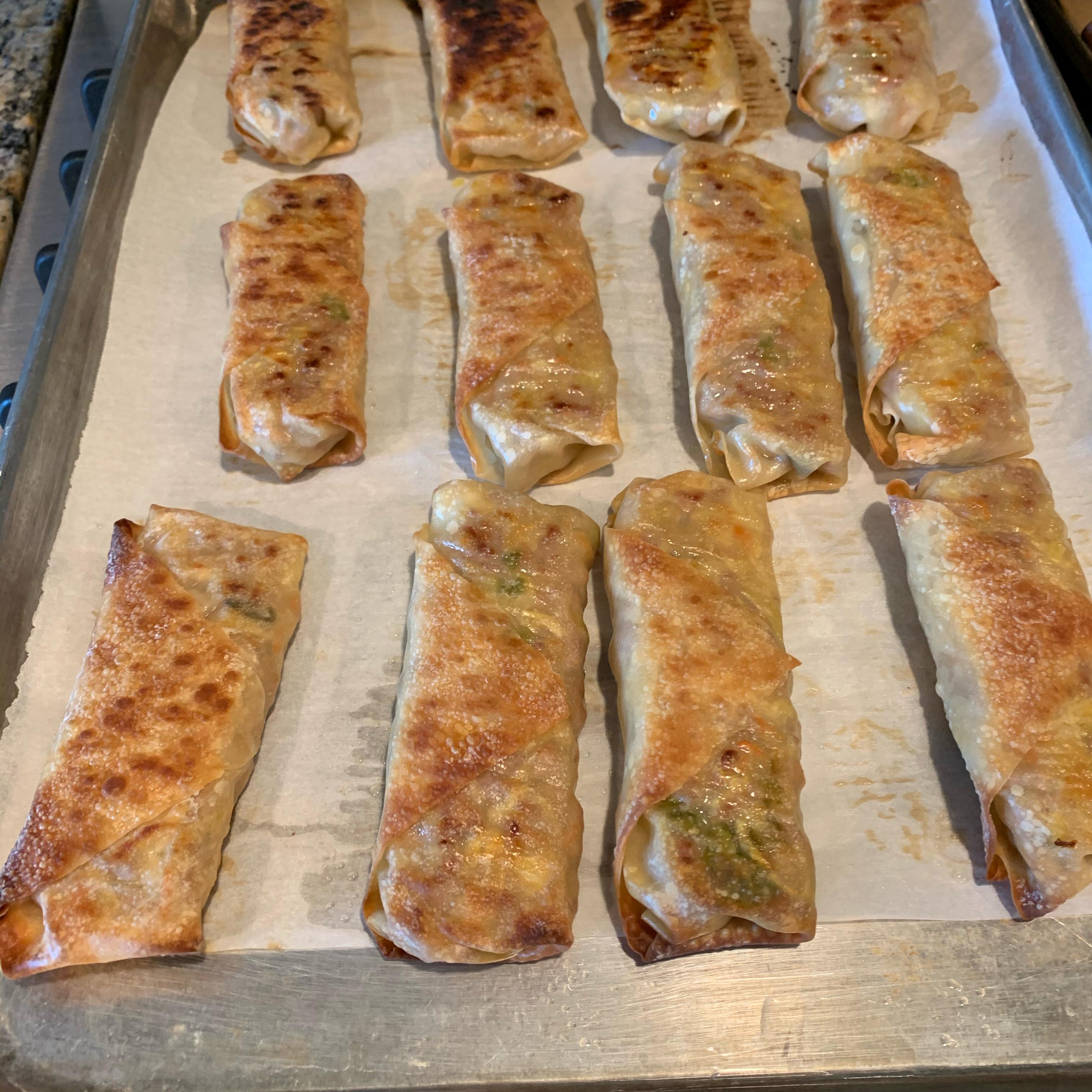 Baked Pork Spring Rolls