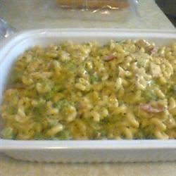 Macaroni and Cheese with Chicken and Broccoli cjs