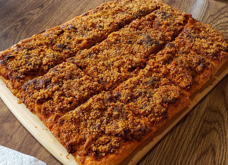 Sicilian Christmas Pizza (Sfincione) Plutarch Oklahoma