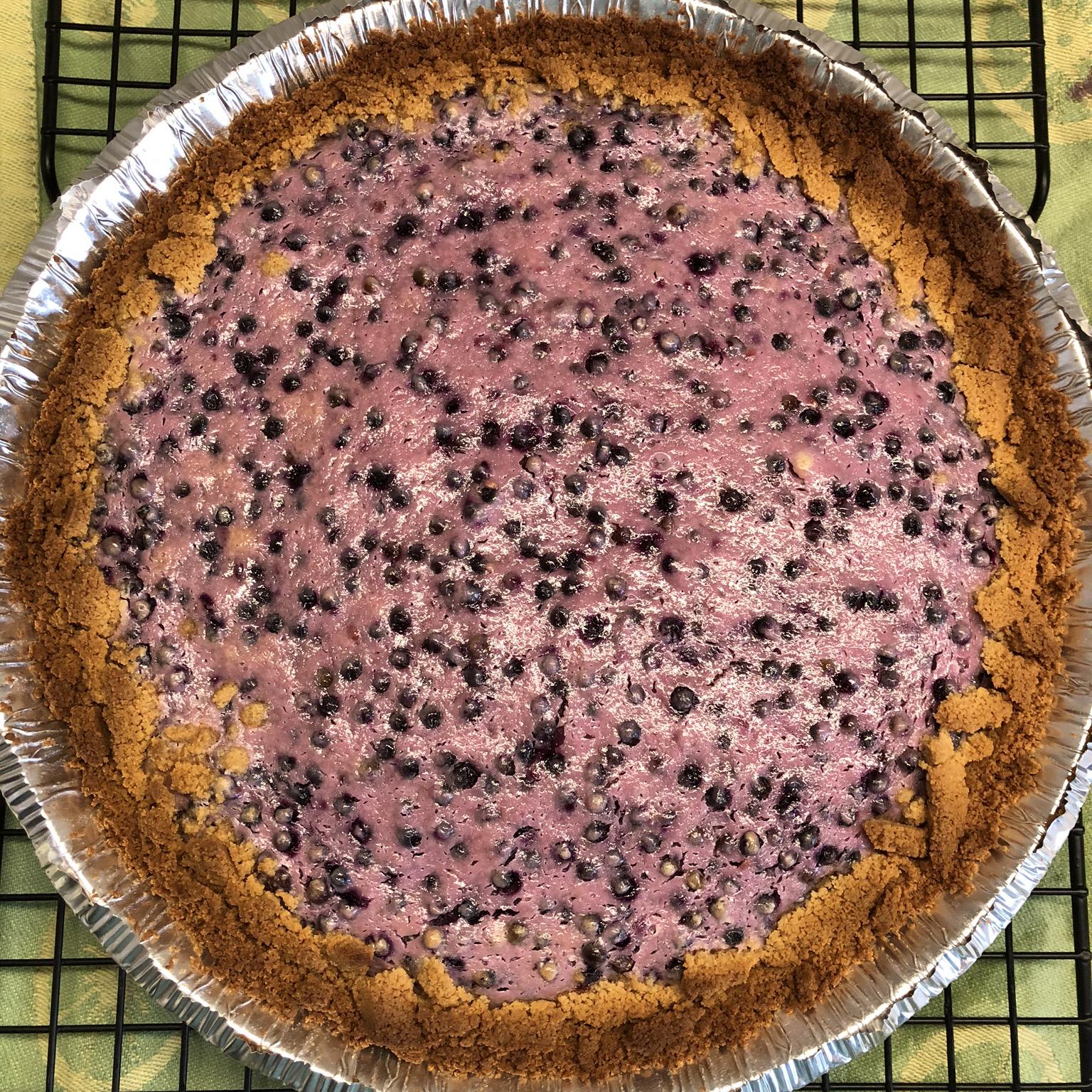 Sour Cream Elderberry Pie
