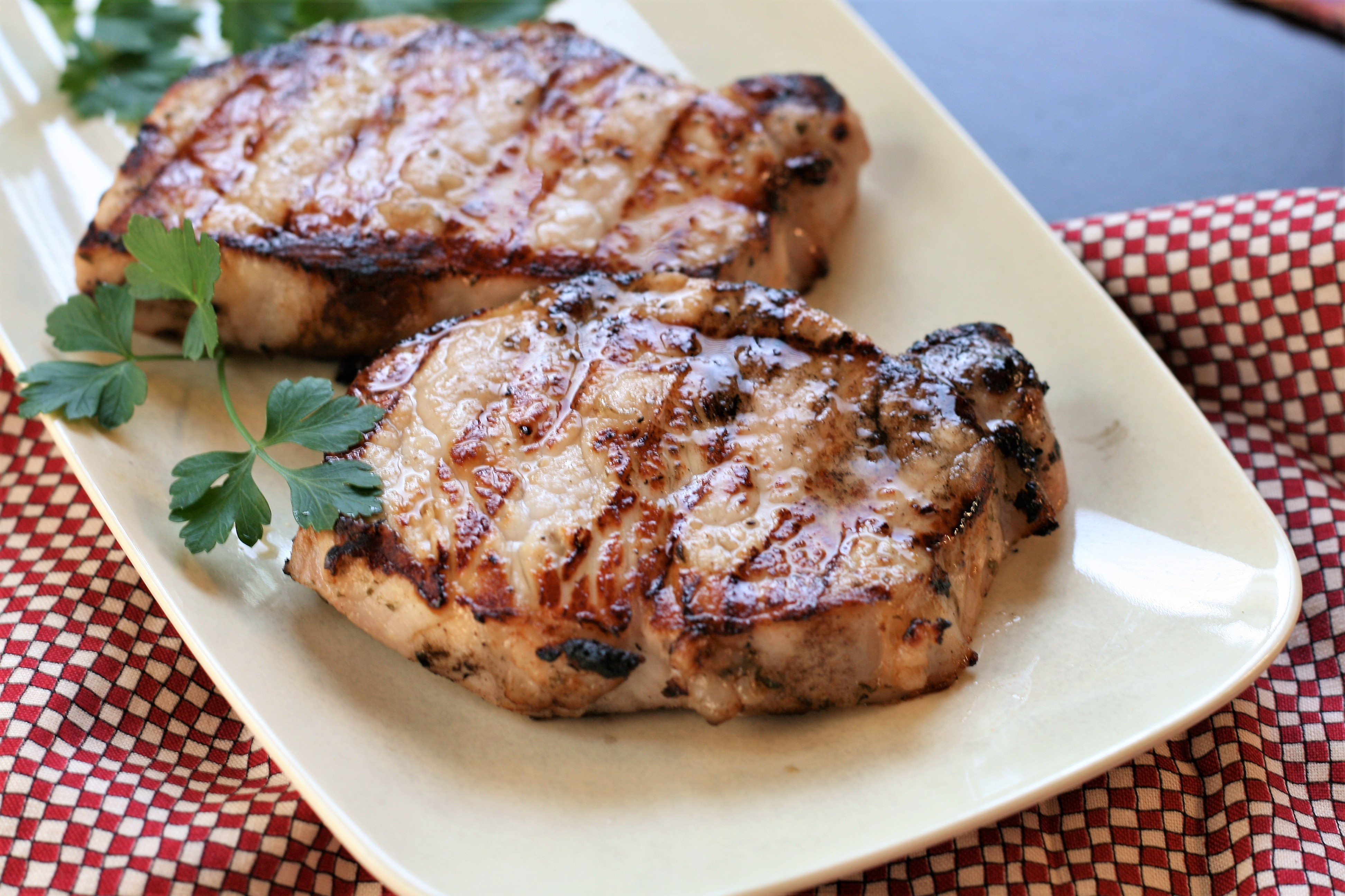 Succulent Grilled Hickory Pork Chops