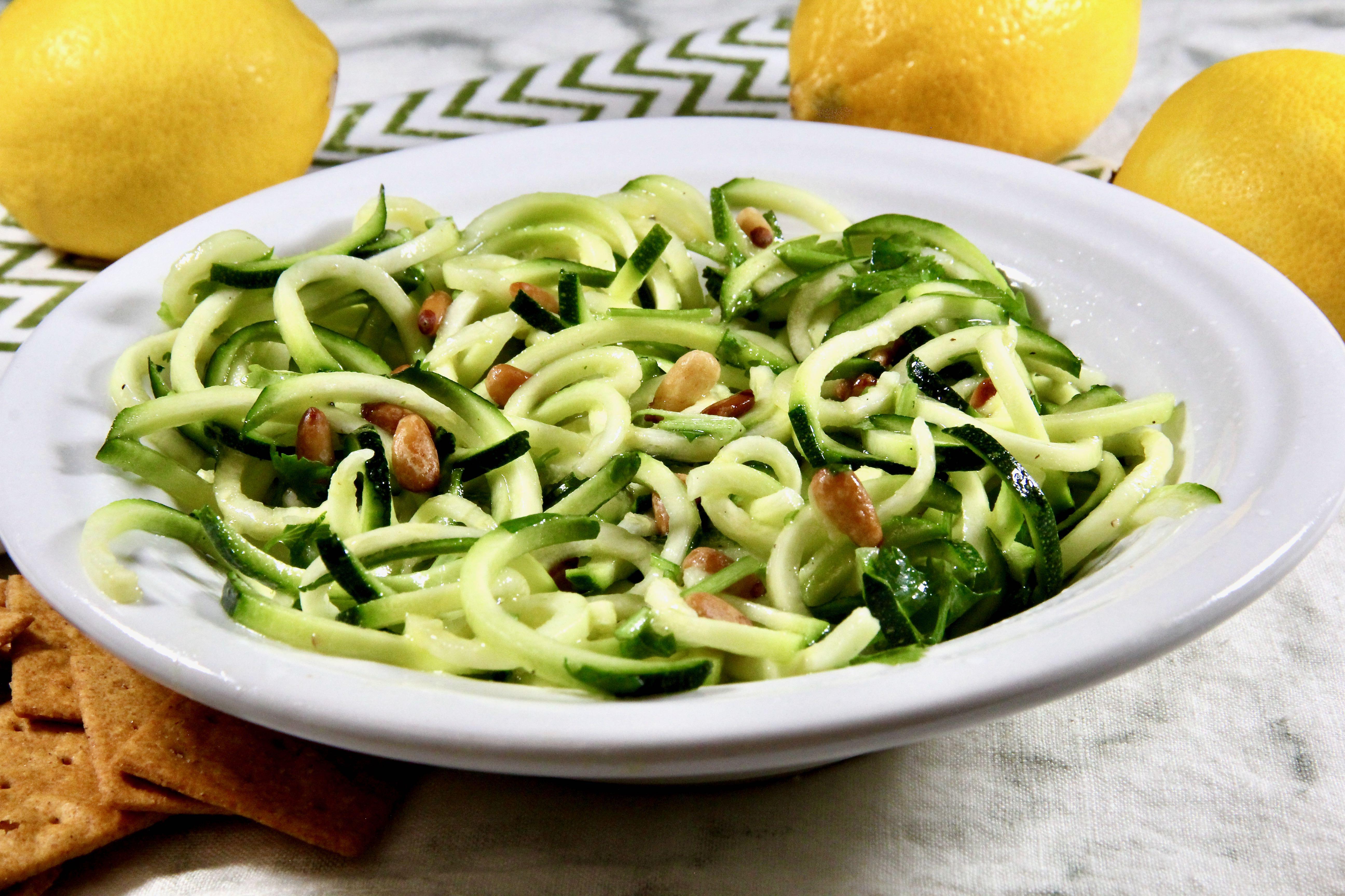 Zucchini Noodle Salad with Lemon-Garlic Vinaigrette