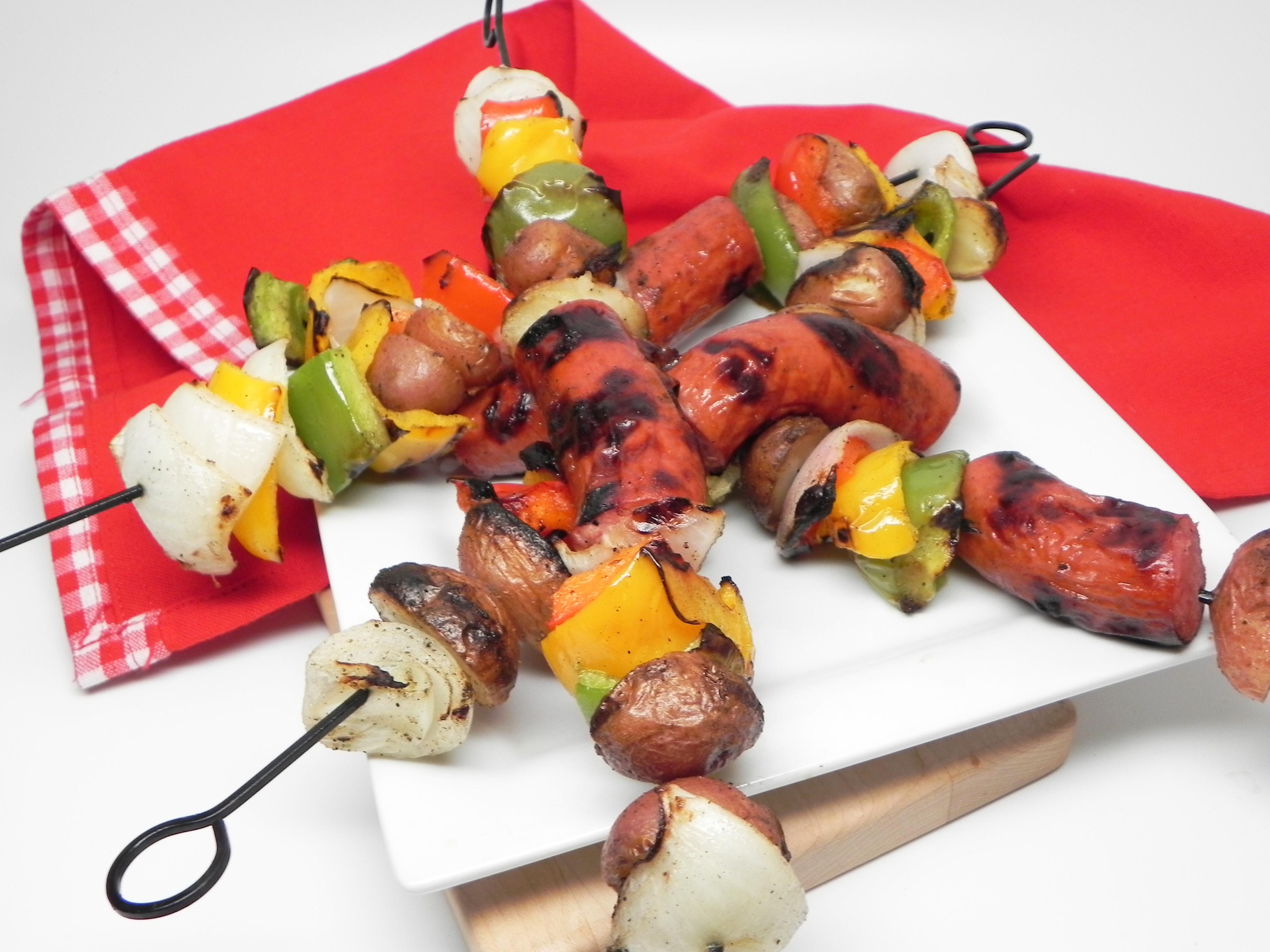 Grilled Turkey Sausage Kabobs