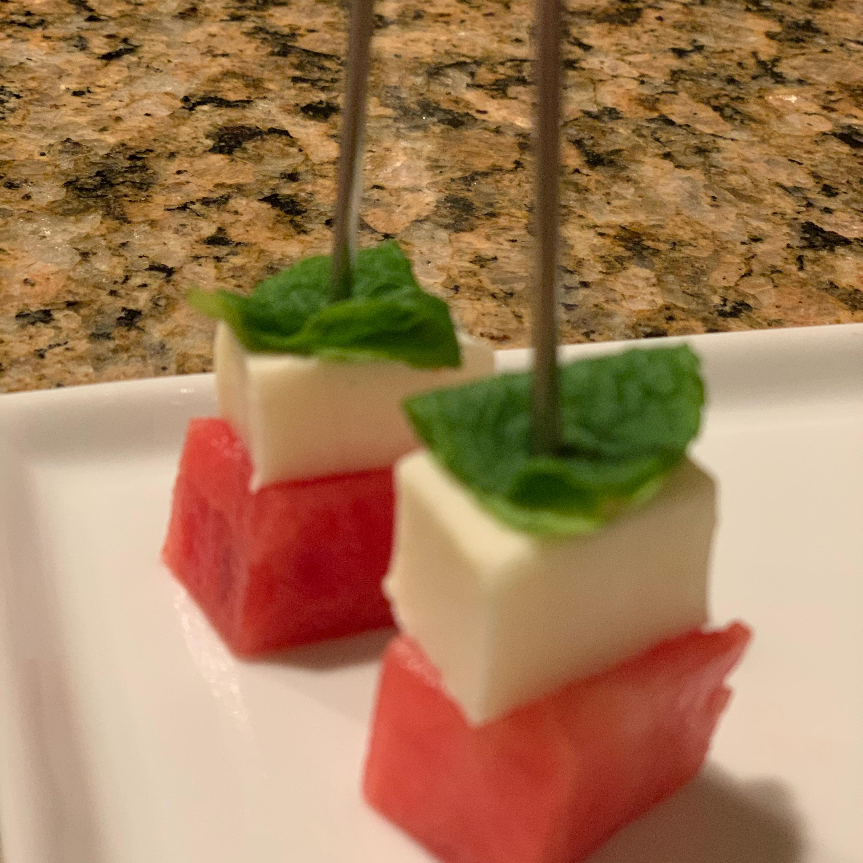 Watermelon Salad on a Stick KJS