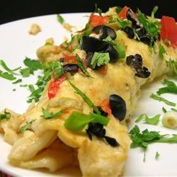 Seafood Enchiladas con Queso