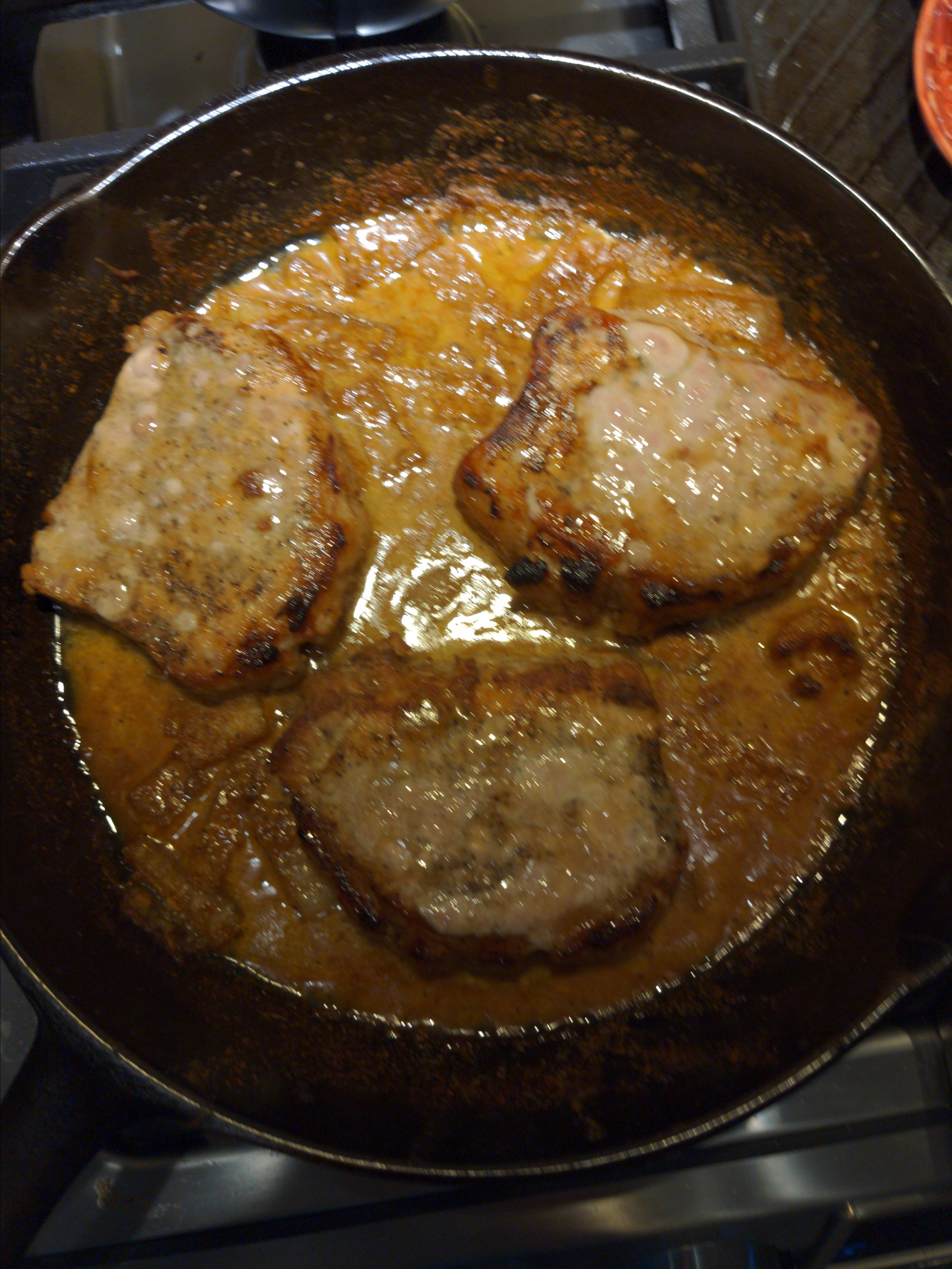 Cast Iron Skillet Pork Chops with Dijon Sauce Chris Feeney