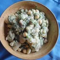 Lebanese Bean Salad Lady at the Stove