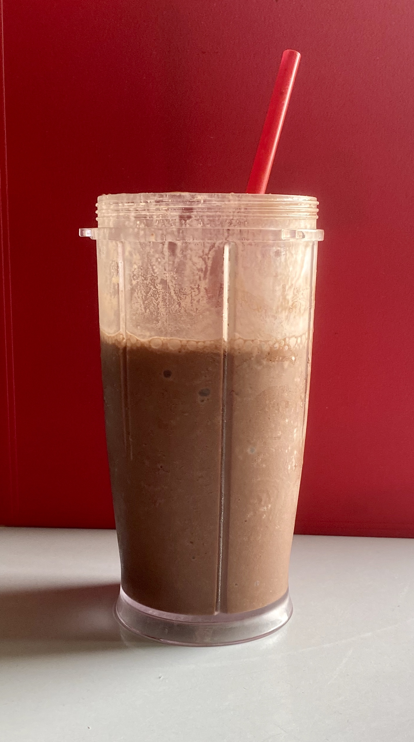 Skinny Vegan Chocolate Peanut Butter Cup Smoothie Rider