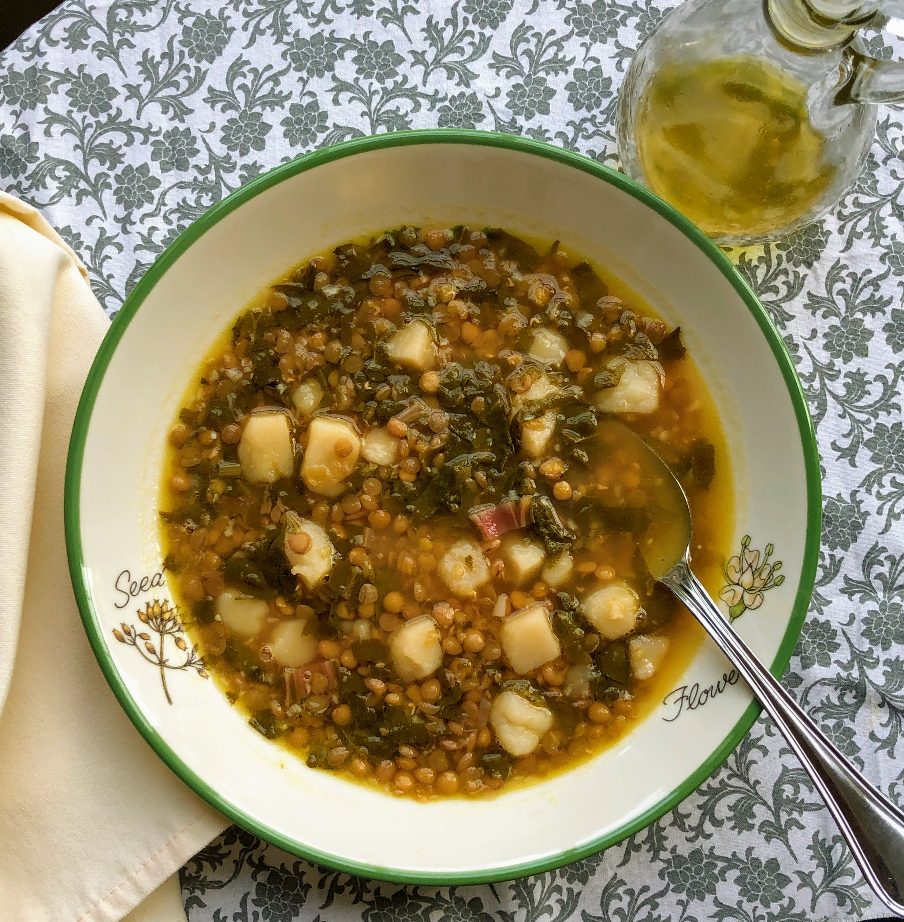 Chard Lentil Soup, Lebanese-Style