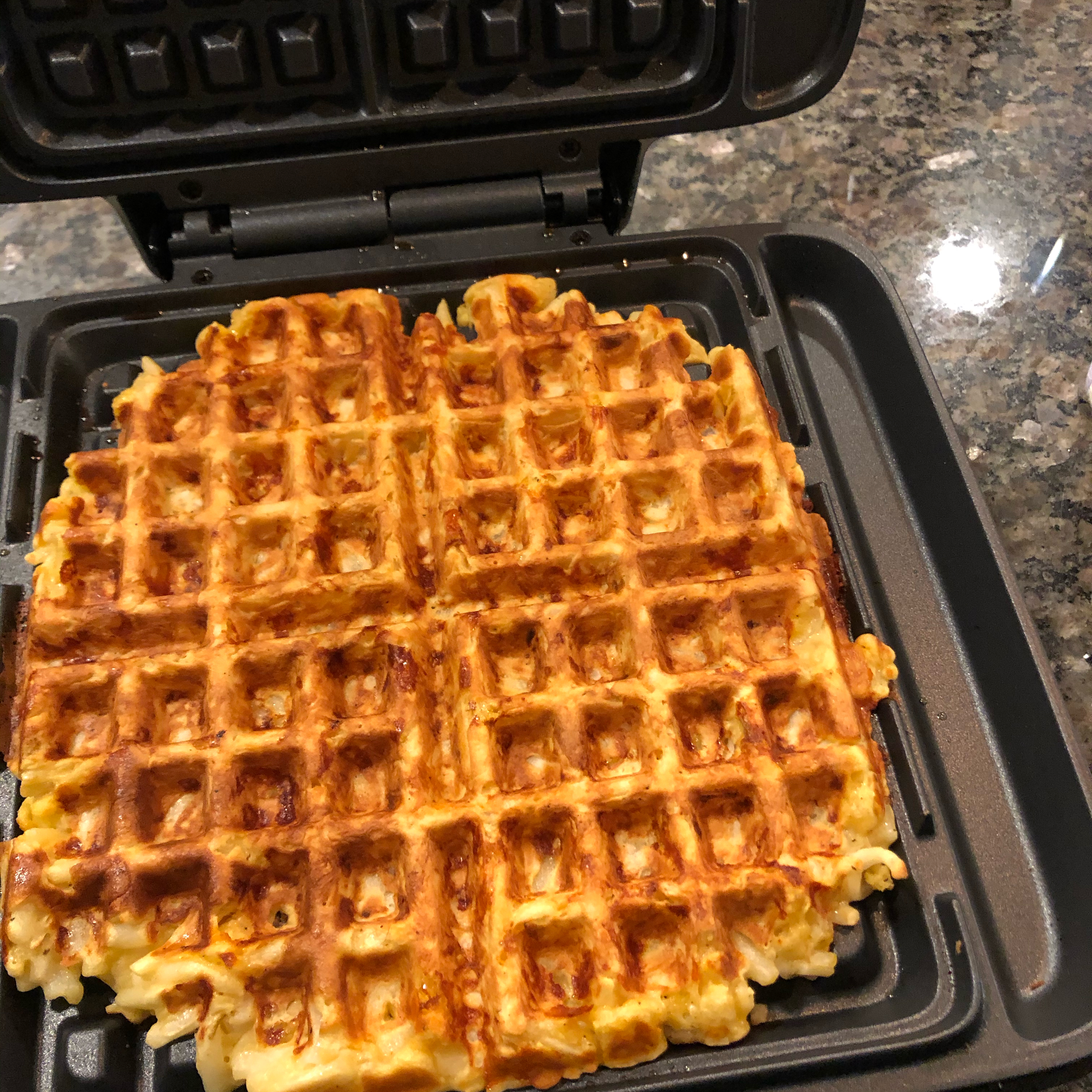 Kitchen Sink Hash Brown and Egg Waffle KimStA