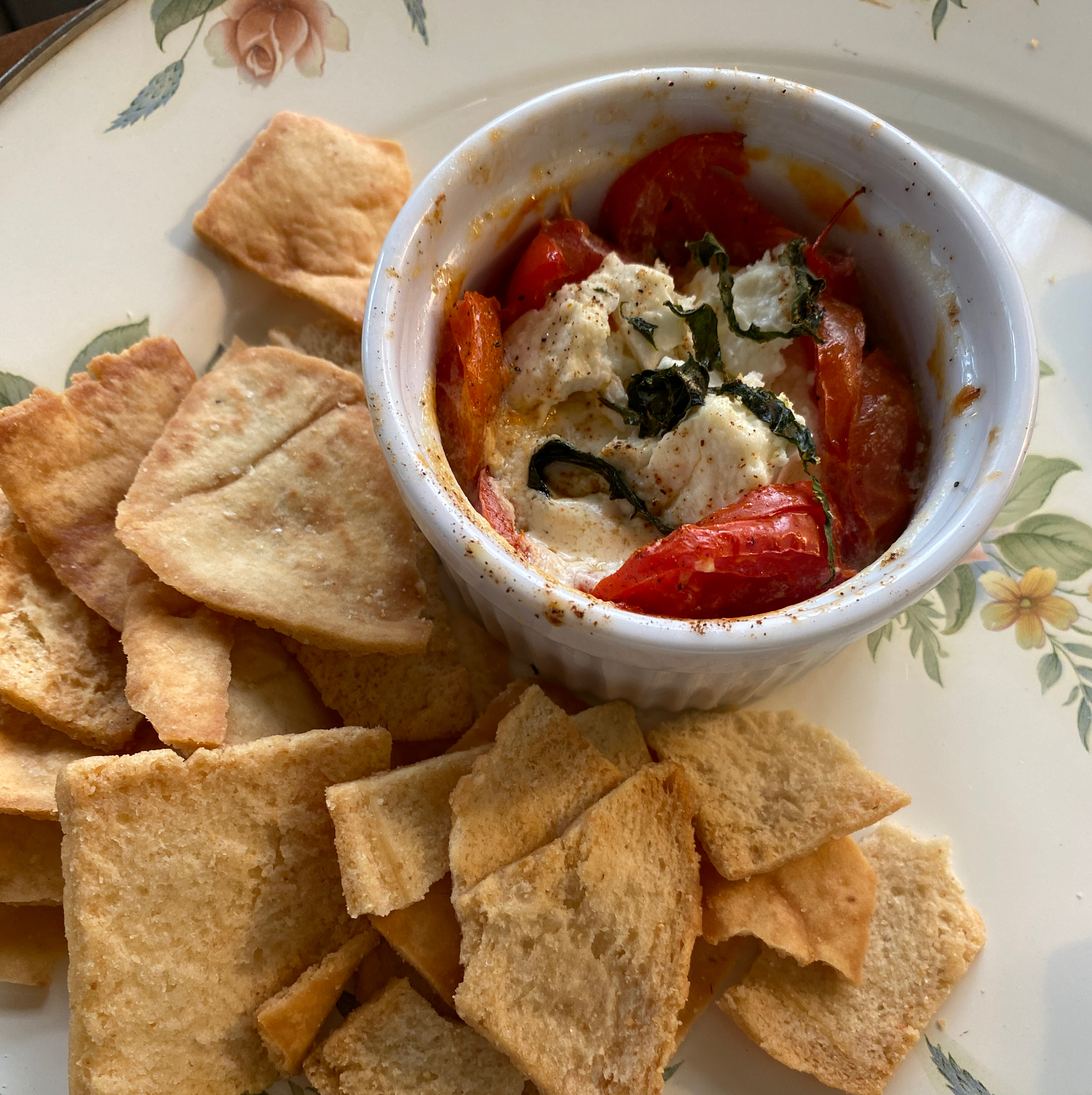 Baked Goat Cheese Caprese Salad mom22grand29