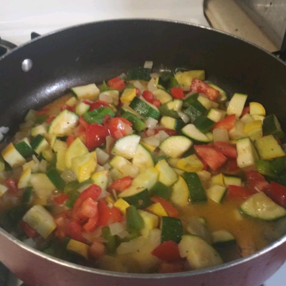 Tomato Zucchini Squash Skillet