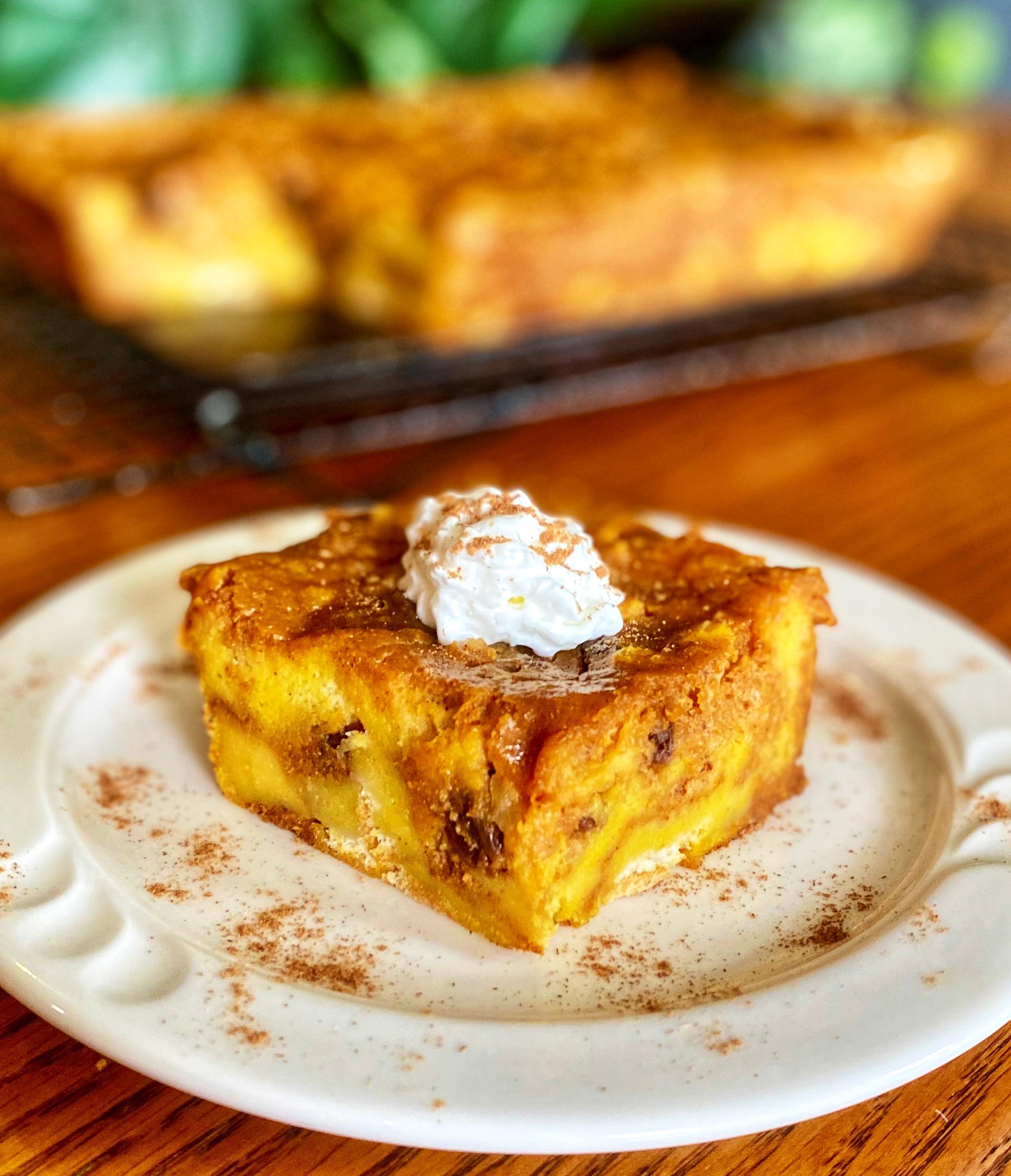 Easy Pumpkin Bread Pudding