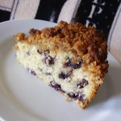 Toasted Coconut-Topped Blueberry Cake Christina