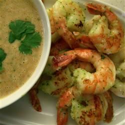 Grilled Prawns with a Spicy Peanut-Lime Vinaigrette SunnyByrd