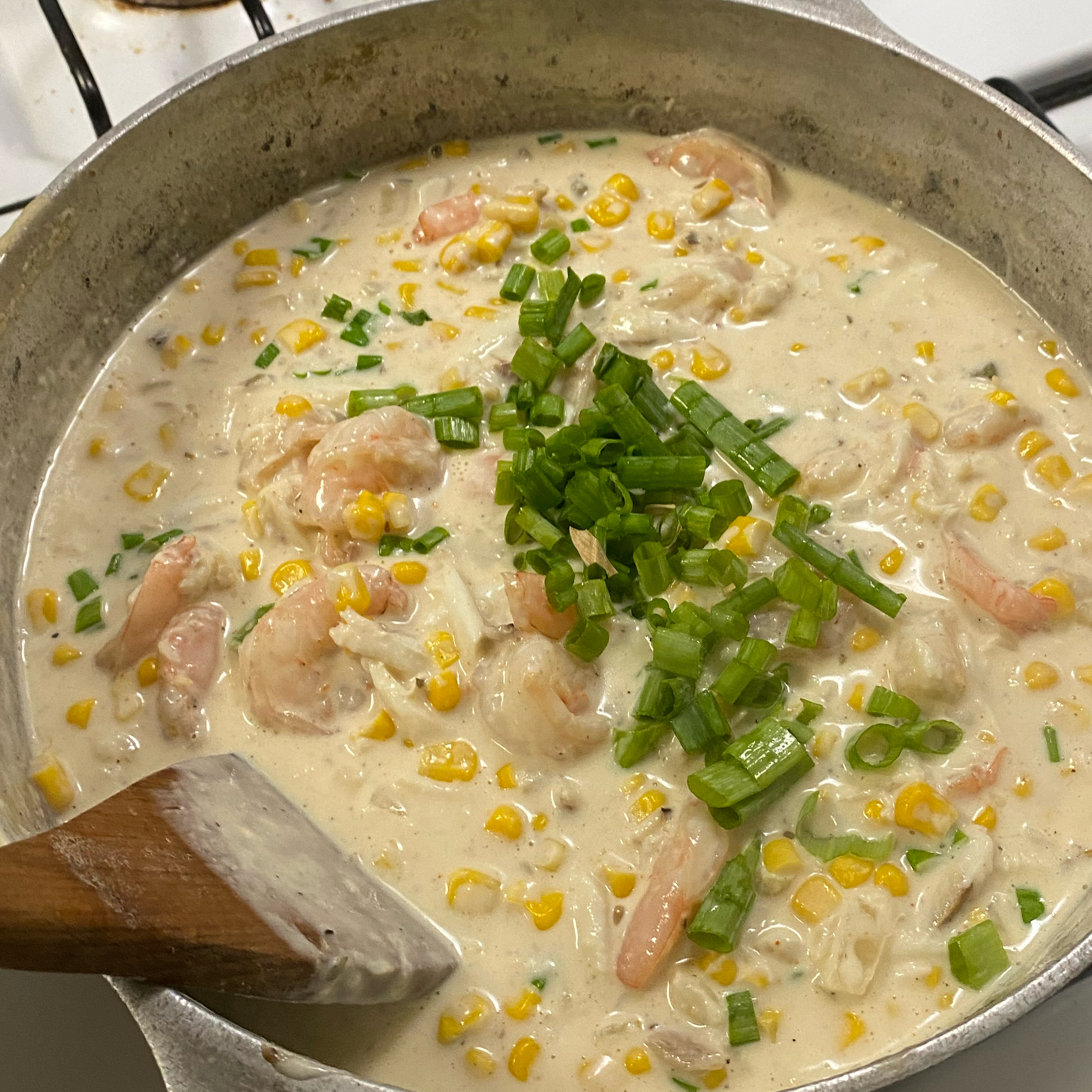 Cajun Corn and Crab Bisque