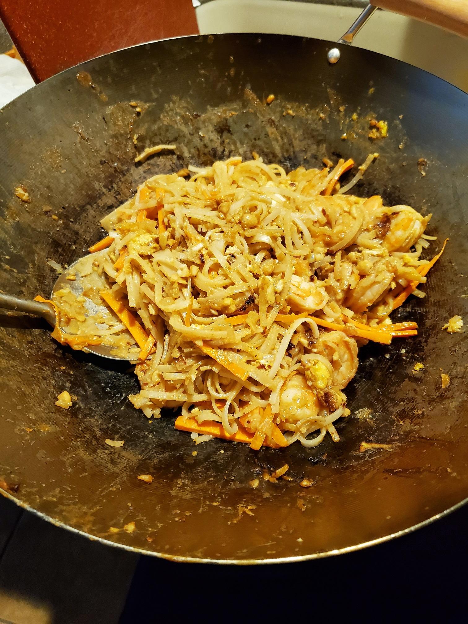 Spicy Shrimp Pad Thai Dano
