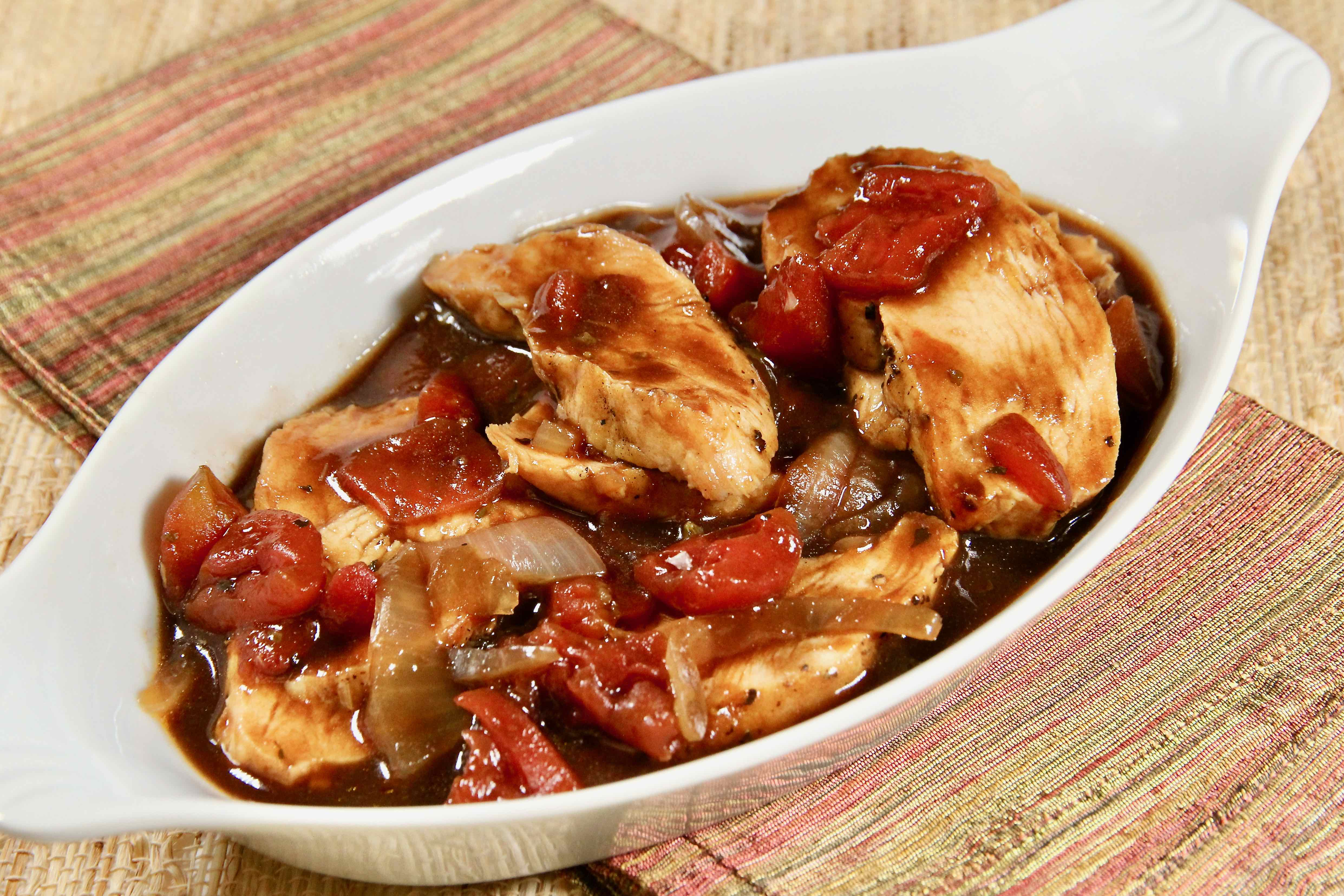Grilled Chicken Breasts with Balsamic Sauce