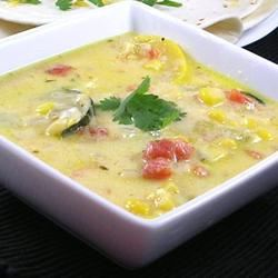 Mexican Zucchini Cheese Soup